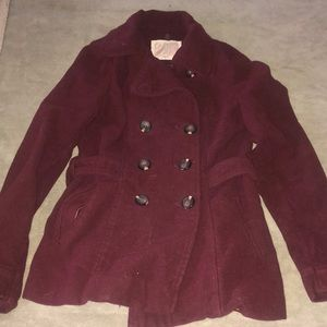 Women's Maroon Jacket - Size Small